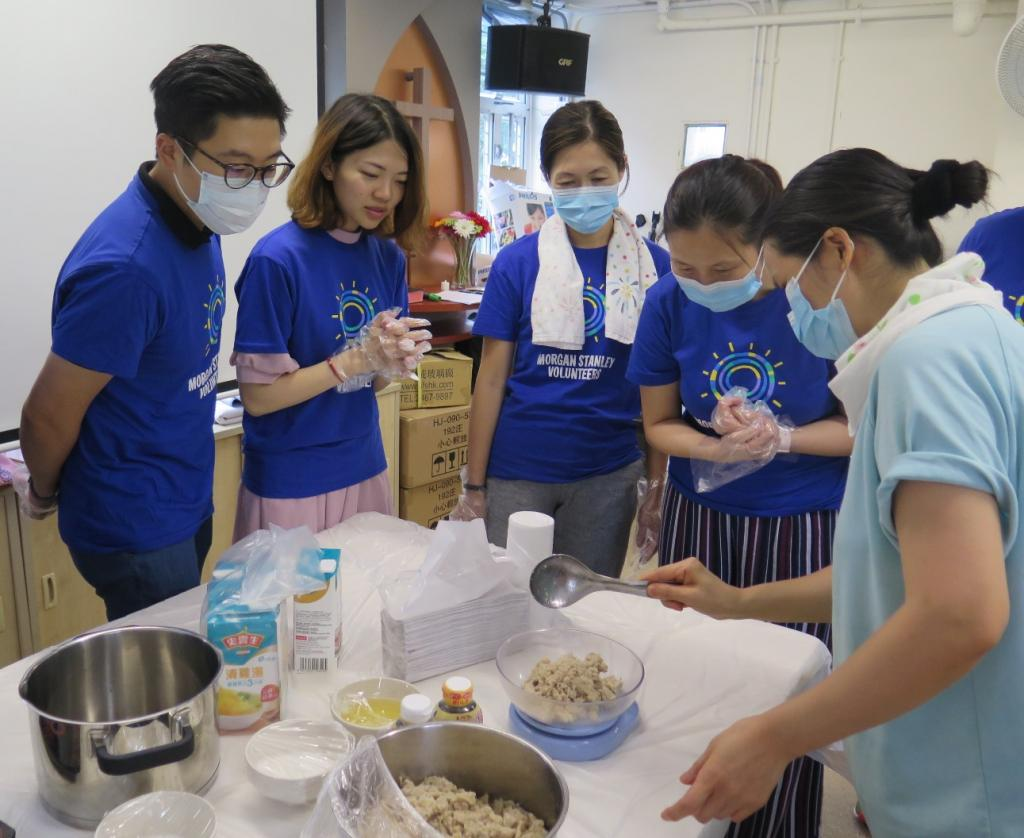 Morgan Stanley prepared dainty meals for the elderly